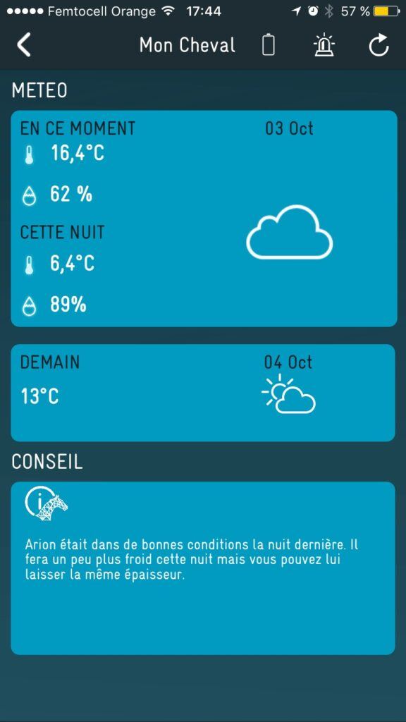 Orscana App and weahter forecast